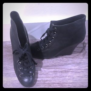 Super Cute TopShop Lace up Wedge Booties
